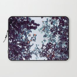 Magical Colorful Pastel Plant Leaves Pink Turquoise Laptop Sleeve