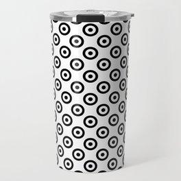 Black & White Mod Target Travel Mug