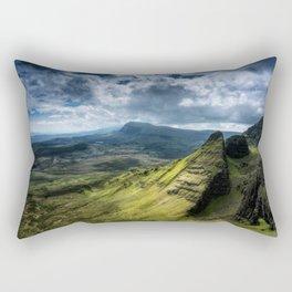 Where Silent Gods Stand Guard Rectangular Pillow