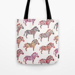 Zebras – Rainbow Palette Tote Bag