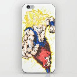 goku strikes!! iPhone Skin