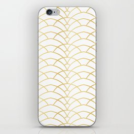 Art Deco Series - Gold & White iPhone Skin