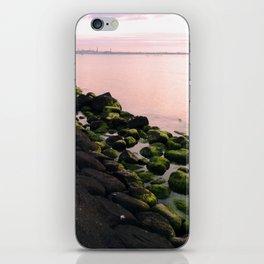Green Stones and Skyline iPhone Skin