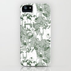 just goats dark green iPhone (5, 5s) Slim Case