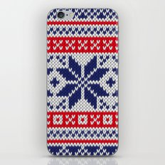 Winter knitted pattern 7 iPhone & iPod Skin