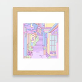 Lost in the Alleys of Japan Framed Art Print