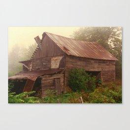 Misty Barn Canvas Print