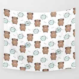 Dog fart Wall Tapestry
