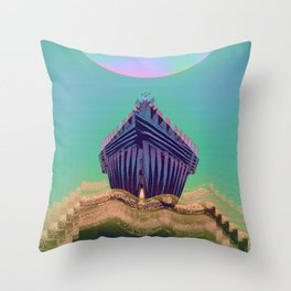 Surfing The Big Wave Searching Mermaids Throw Pillow
