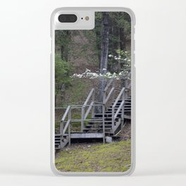 Dogwood Staircase Clear iPhone Case