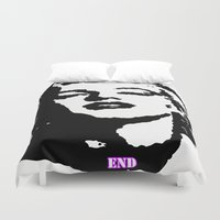 monroe Duvet Covers featuring  Monroe by End One Art