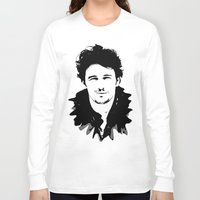 james franco Long Sleeve T-shirts featuring james franco by looseleaf