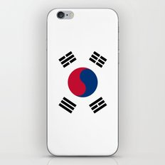 South Korean flag - officially the Republic of Korea, Authentic version - color and scale iPhone & iPod Skin