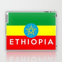 Ethiopia country flag name text Laptop & iPad Skin