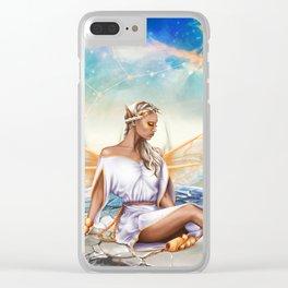 Virgo OC - 12 Zodiac Ladies Clear iPhone Case