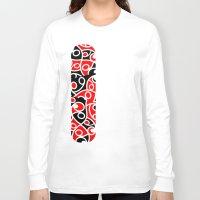 maori Long Sleeve T-shirts featuring Maori Kowhaiwhai Patchwork Pattern by mailboxdisco