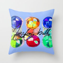 JUGGLER BEAN BALLS Throw Pillow