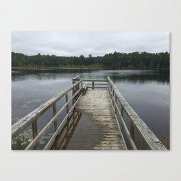 Swamped Dock Canvas Print