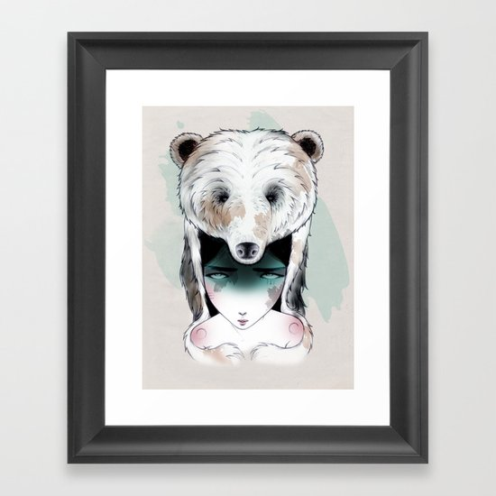 The Bear Framed Art Print