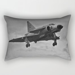 Swedish Airforce Fighter Plane (J37) Rectangular Pillow