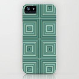 Green plaid  4 iPhone Case