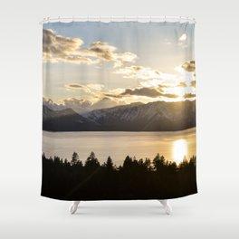 Top Floor Lake Tahoe Shower Curtain