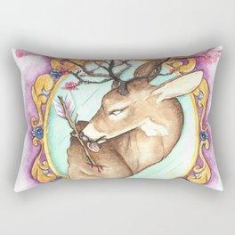 Trophy: Abstract Mounted Deer Rectangular Pillow