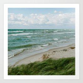 Windy Day on Lake Michigan Art Print