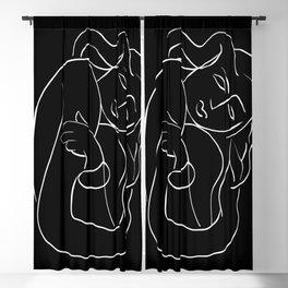 Matisse Line art Woman Black Blackout Curtain