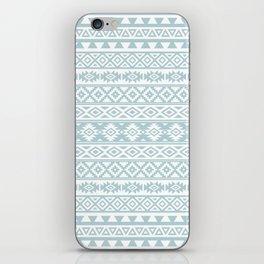 Aztec Stylized Pattern Duck Egg Blue & White iPhone Skin