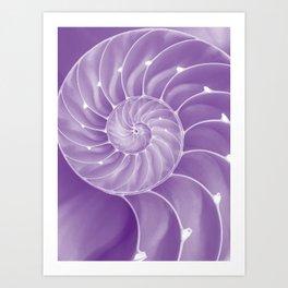 Ultra Violet Chambered Nautilus Art Print