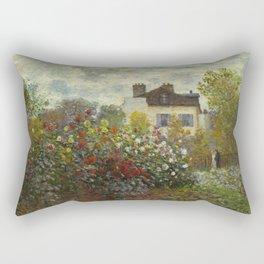 Claude Monet The Artist's Garden In Argenteuil Rectangular Pillow