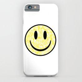 Splattered Smiley Face iPhone Case