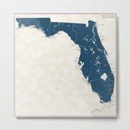 Florida Parks - v2 Metal Print