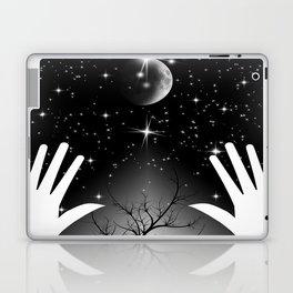 Bright galaxy and Moon Laptop & iPad Skin