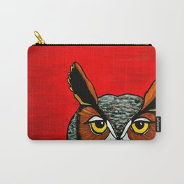 Peaking - Great Horned Owl Carry-All Pouch