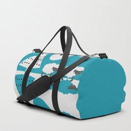 White sheep in a blue world Duffle Bag
