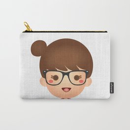 The Hipster Girl Carry-All Pouch