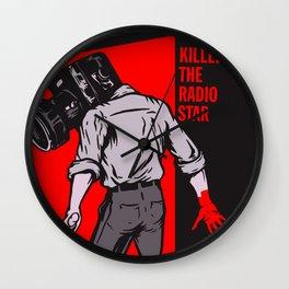 Kills The Radio Star Wall Clock