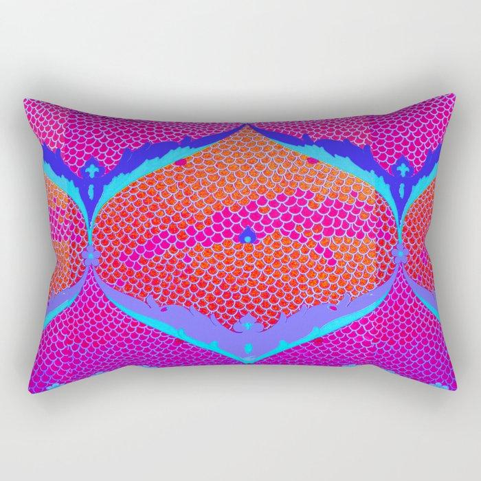 RED MAGENTA IZNIKY Rectangular Pillow