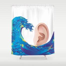 Hokusai Rainbow & Ear  Shower Curtain