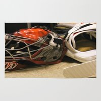 hockey Area & Throw Rugs featuring Ice hockey by guiomar carbonell
