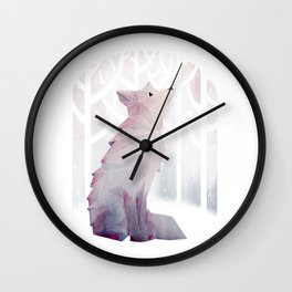Fox in the Snow Wall Clock