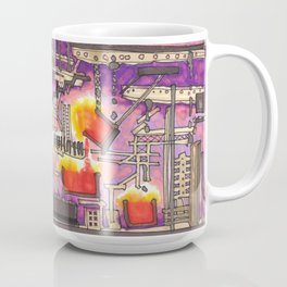 Industrial Steel Architectural Illustration Coffee Mug