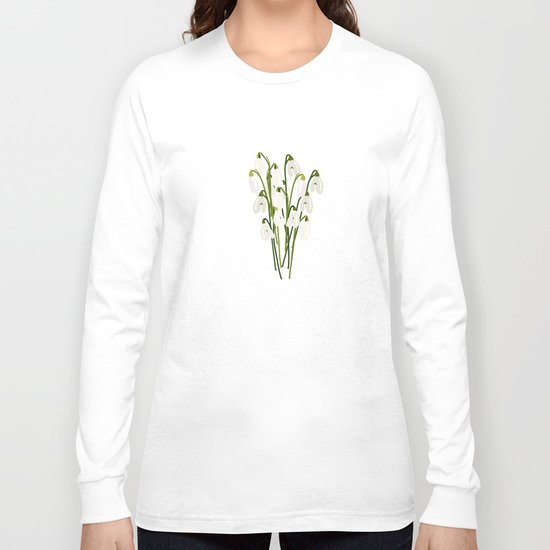 Bouquet Of Snowdrops Long Sleeve T-shirt
