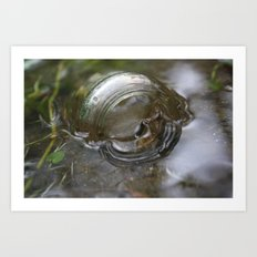 Glass in the Water Art Print