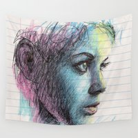 notebook Wall Tapestries featuring Creta by BookOfFaces