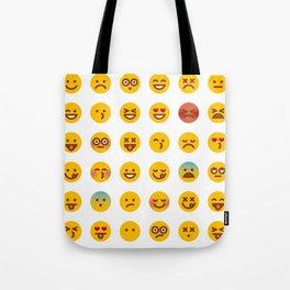 Cute Set of Emojis Tote Bag