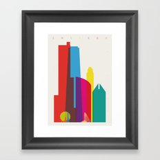 Shapes of Chicago. Accurate to scale Framed Art Print