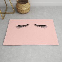pink eyelashes Rug